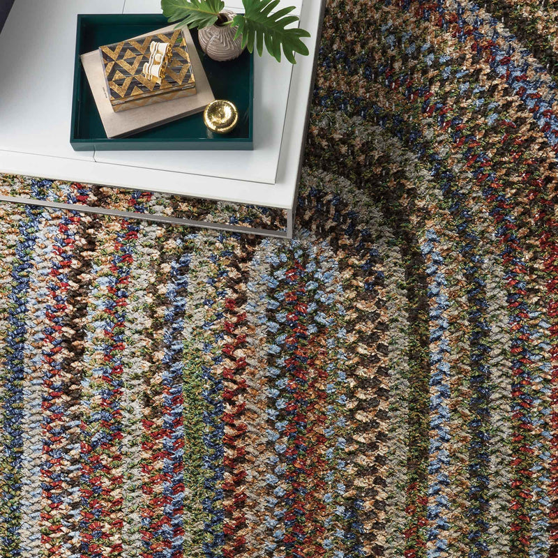 New Homestead Multi Braided Rug Oval Roomshot image