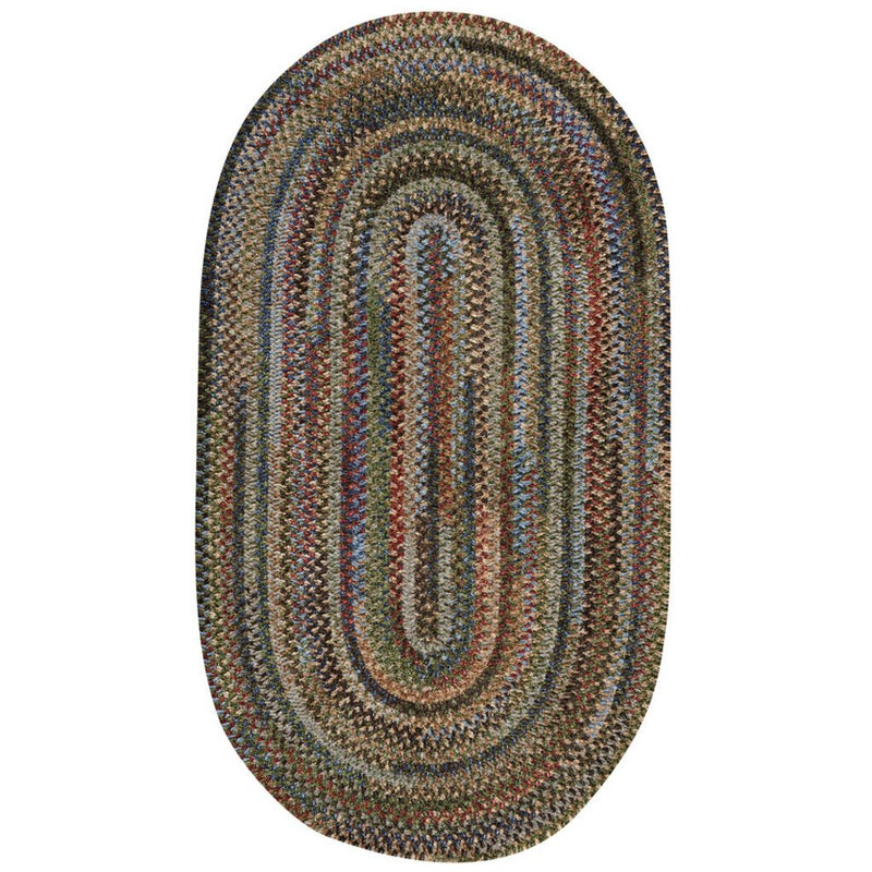 New Homestead Multi Braided Rug Oval image