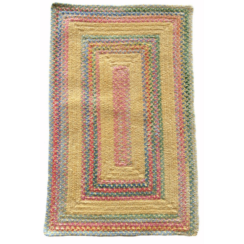 Bailey Morning Glory Braided Rug Concentric image