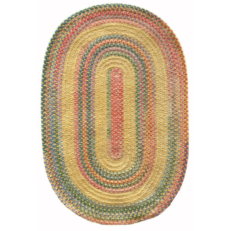 Bailey Morning Glory Braided Rug Oval image