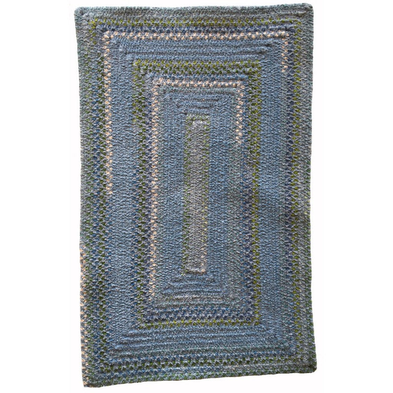 Bailey Delphinium Blue Braided Rug Concentric image