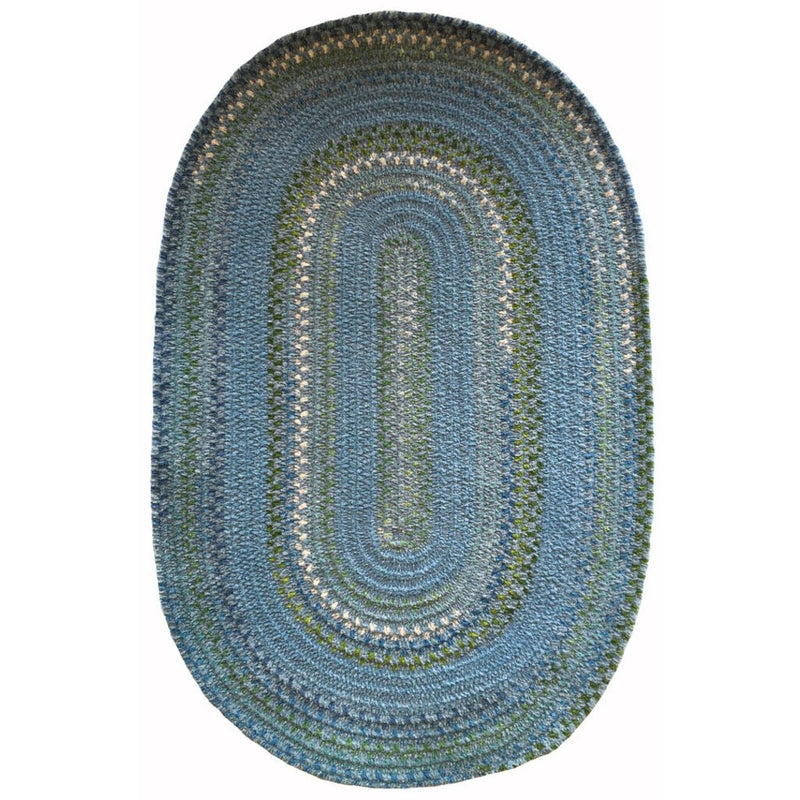 Bailey Delphinium Blue Braided Rug Oval image