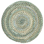 Grand-Le-Fleur Deep Waters Braided Rug Round image
