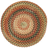 Plymouth Light Gold Braided Rug Round image