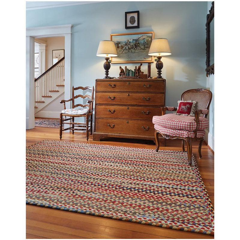 Plymouth Light Gold Braided Rug Rectangle Roomshot image