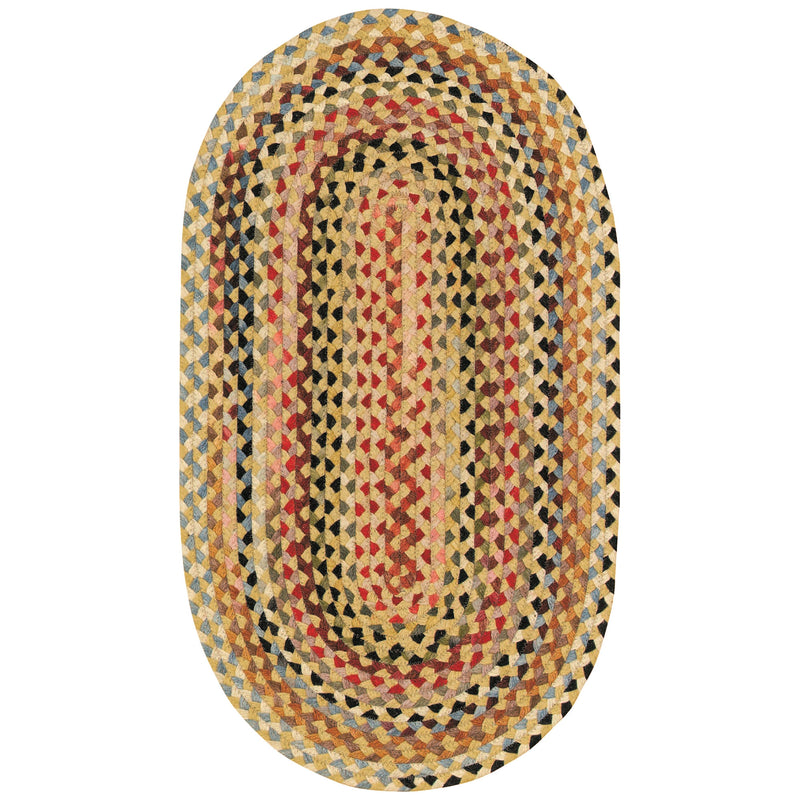 Plymouth Light Gold Braided Rug Oval image