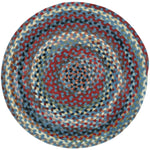 Plymouth Colony Blue Braided Rug Round image
