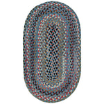 Plymouth Colony Blue Braided Rug Oval image