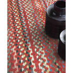 Plymouth Country Red Braided Rug Rectangle Roomshot image