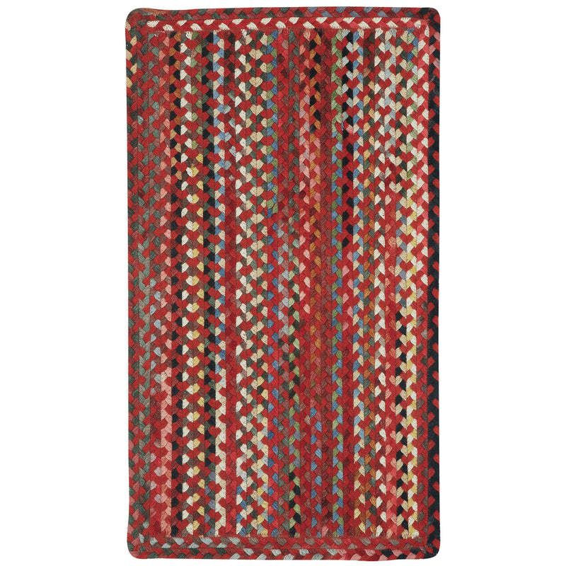 Plymouth Country Red Braided Rug Rectangle image
