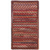 Plymouth Country Red Braided Rug Cross-Sewn image
