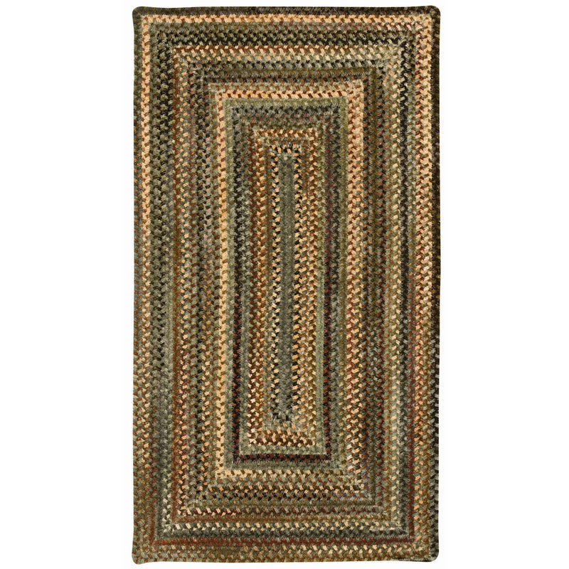 Cambridge New Leaf Braided Rug Concentric image