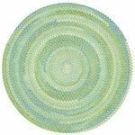 Sailor Boy Sea Monster Green Braided Rug Round image