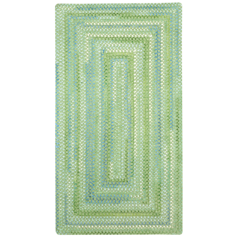 Sailor Boy Sea Monster Green Braided Rug Concentric image