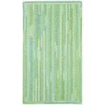 Sailor Boy Sea Monster Green Braided Rug Rectangle image