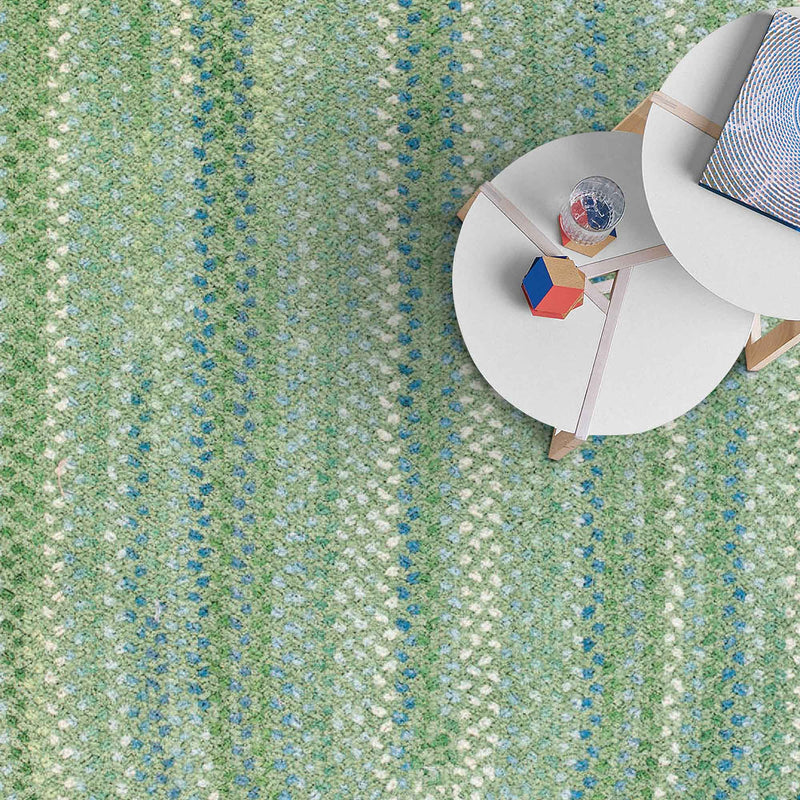 Sailor Boy Sea Monster Green Braided Rug Oval Roomshot image