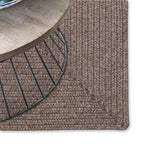 Simplicity Wood Braided Rug Oval image