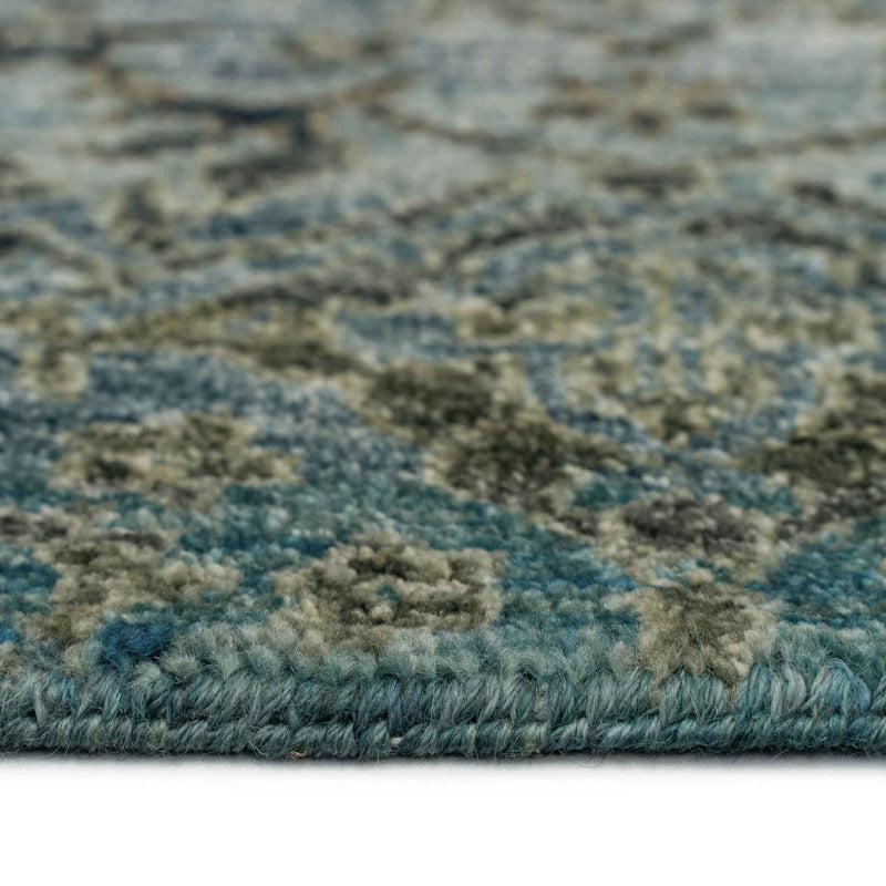 Pinnacle Agate Hand Knotted Rug Rectangle Cross Section image