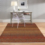Pinnacle Coral Hand Knotted Rug Rectangle Roomshot image