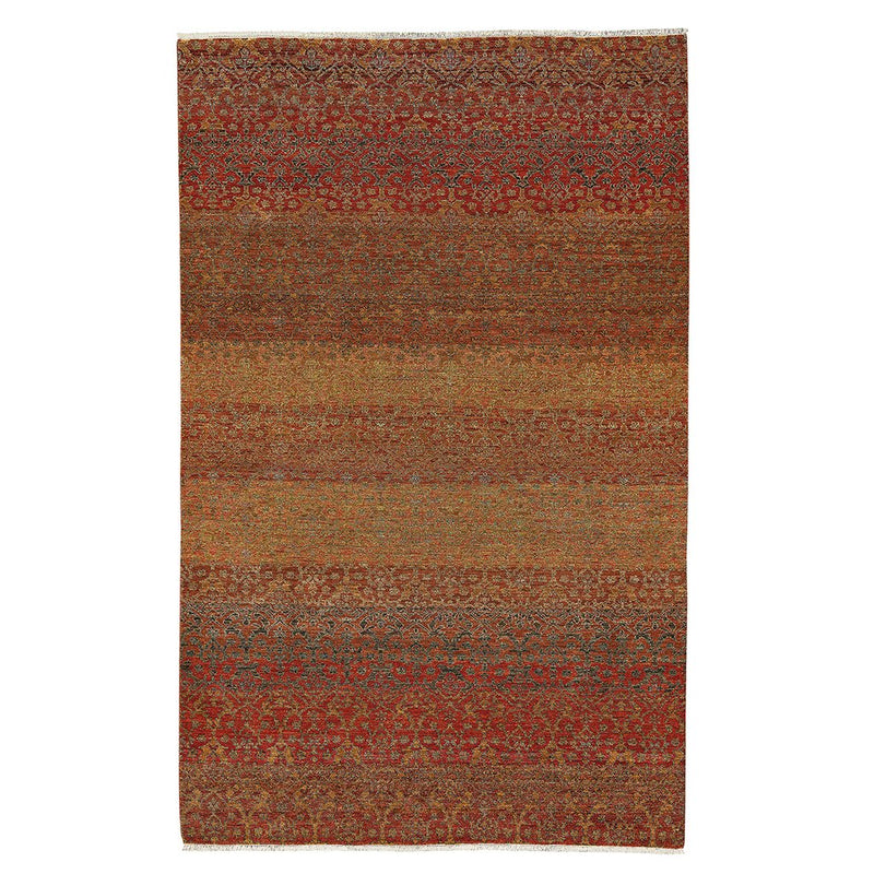 Pinnacle Coral Hand Knotted Rug Rectangle image