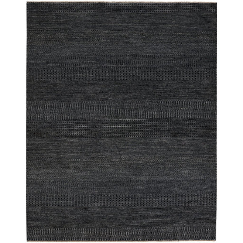 Barrister Black Hand Knotted Rug Rectangle image