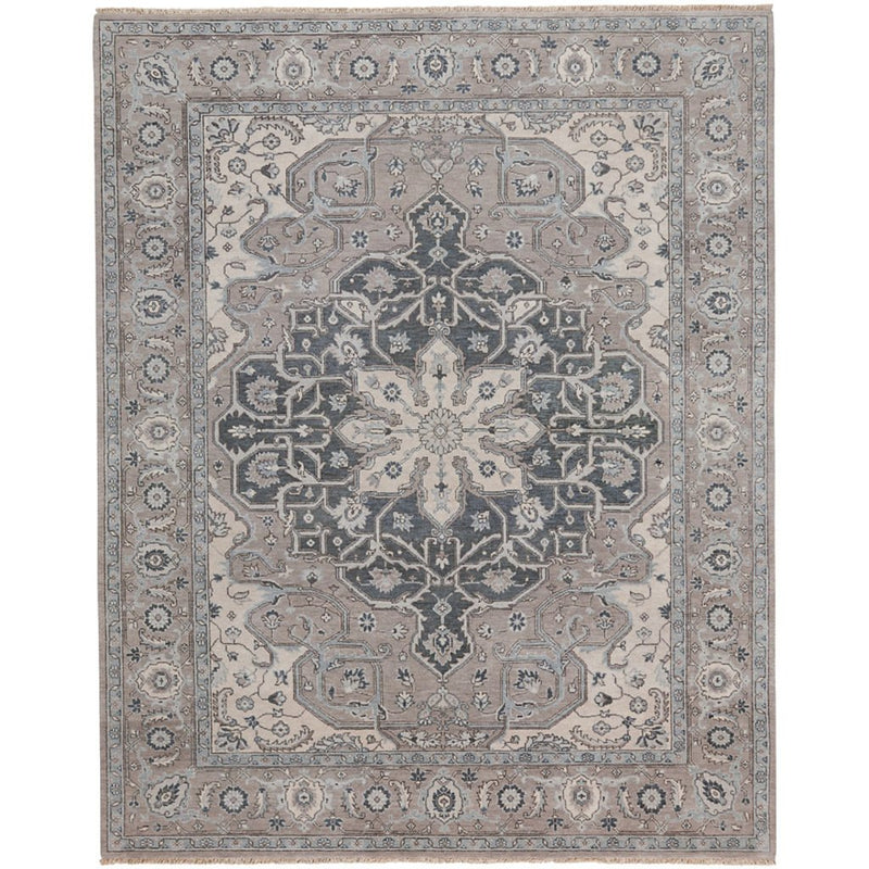 Estate-Sirocco Grey Hand Knotted Rug Rectangle image