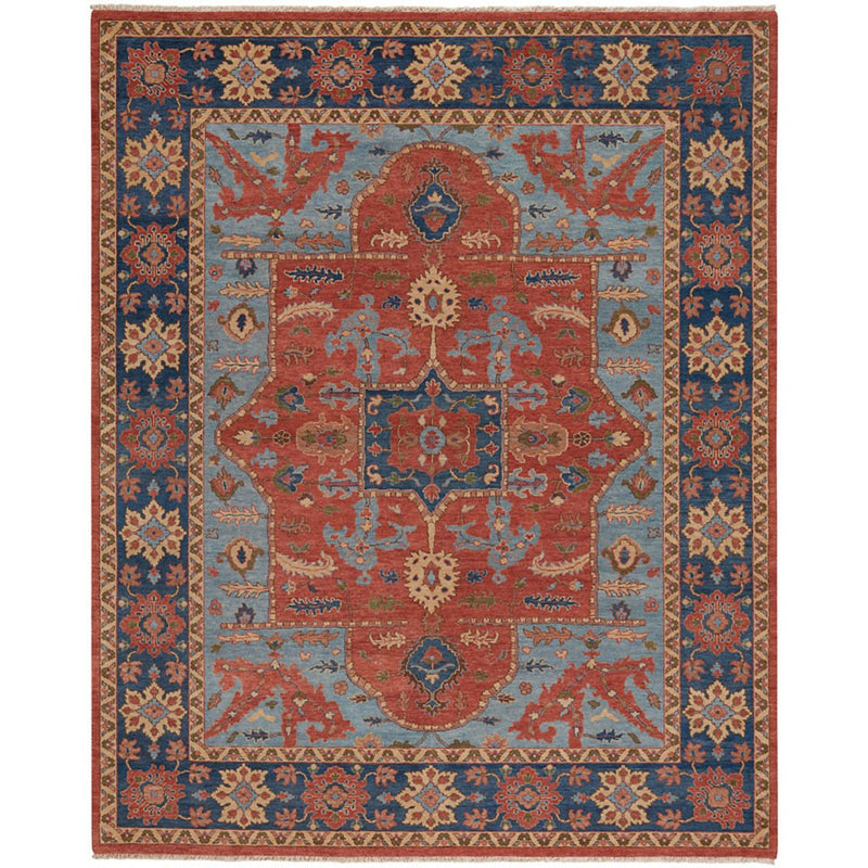 Estate-Nomad Rust Navy Hand Knotted Rug Rectangle image