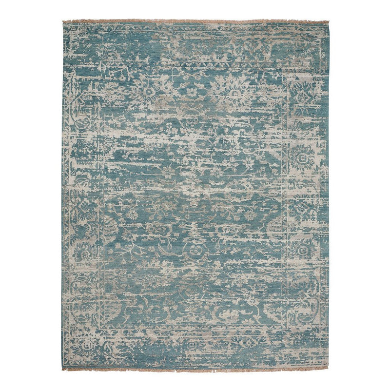 Makrana Mineral Blue Hand Knotted Rug Rectangle image