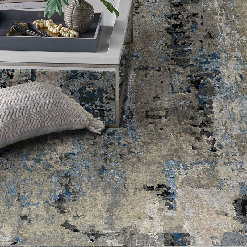 Tasanee Bluestone Hand Knotted Rug Rectangle Roomshot image