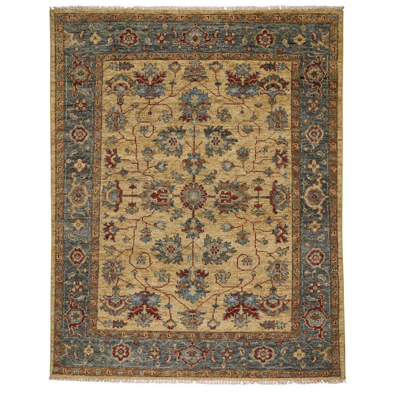 Charise-Keshan Champagne Hand Knotted Rug Rectangle image