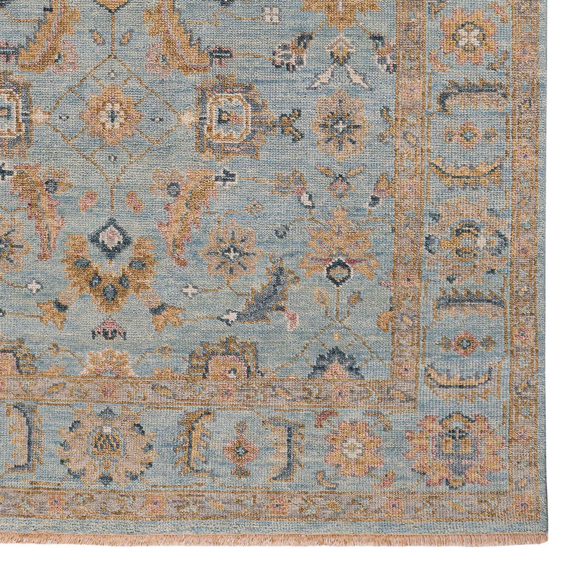 Braymore-Wilona Ice Blue Hand Knotted Rug Rectangle Corner image