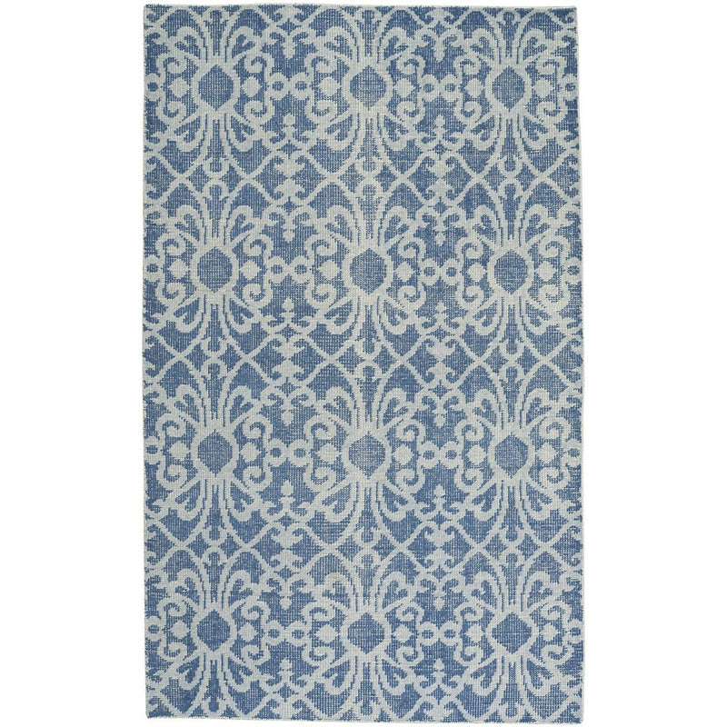 Vintage-Courtyard Blue Hand Knotted Rug Rectangle image