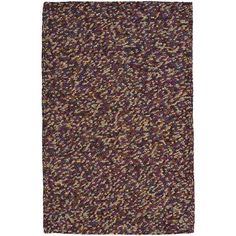 Pebbles Wine Hand Knotted Rug Rectangle image