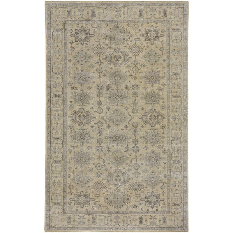 Bodrum Natural Sage Hand Knotted Rug Rectangle image