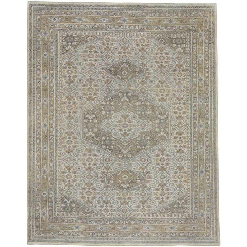 Barletta Natural Lt. Blue Hand Knotted Rug Rectangle image