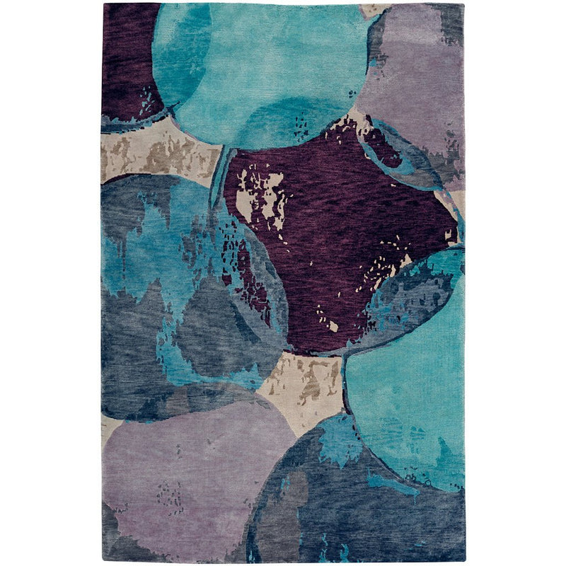 Phantom-Mirage Blue Haze Hand Knotted Rug Rectangle image