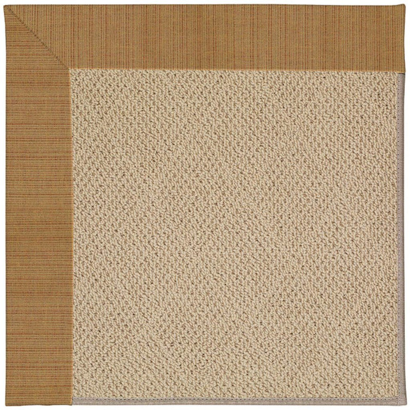 Creative Concepts-Cane Wicker Dupione Caramel Machine Tufted Rug Rectangle image