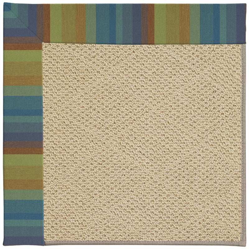 Creative Concepts-Cane Wicker Astoria Lagoon Machine Tufted Rug Rectangle image