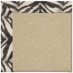 Creative Concepts-Cane Wicker Tigress Zinc Machine Tufted Rug Rectangle image