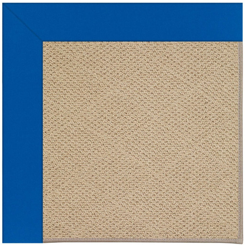 Creative Concepts-Cane Wicker Canvas Pacific Blue Machine Tufted Rug Rectangle image