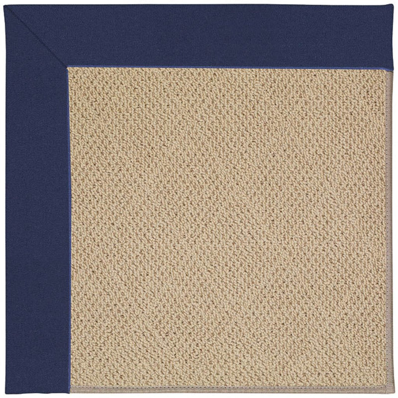 Creative Concepts-Cane Wicker Canvas Royal Navy Machine Tufted Rug Rectangle image