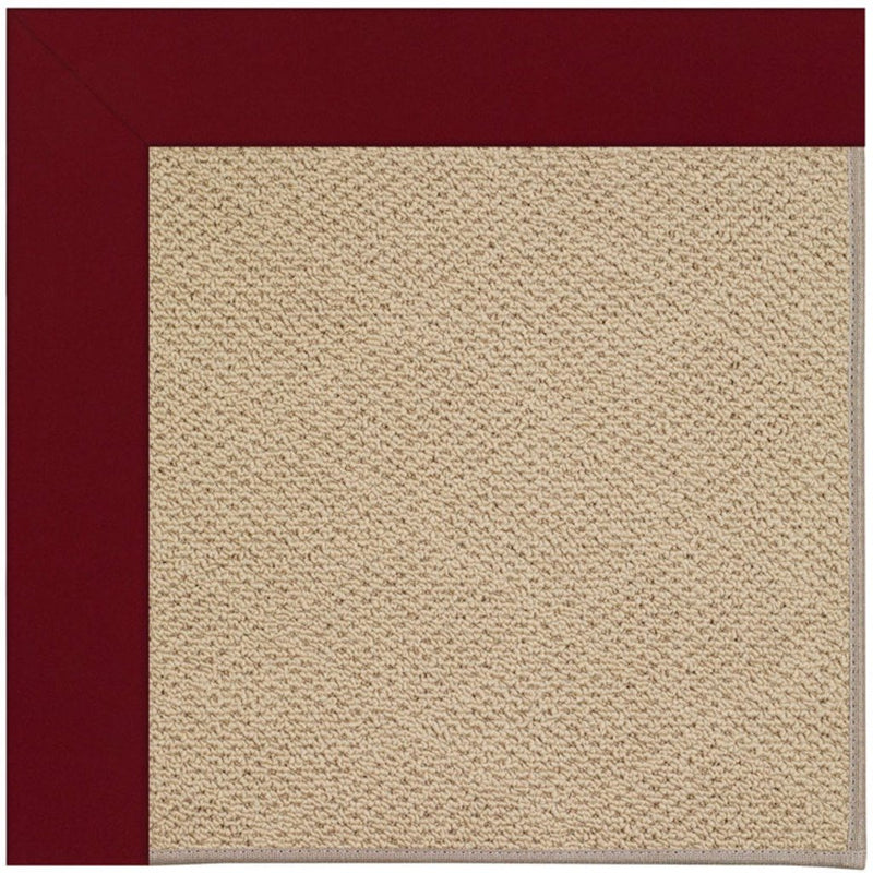 Creative Concepts-Cane Wicker Canvas Burgundy Machine Tufted Rug Runner image