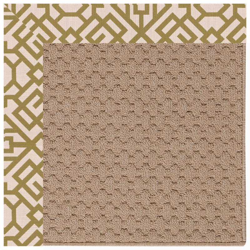 Creative Concepts-Grassy Mtn. Lattice Pesto Indoor/Outdoor Bordere Rectangle Corner image