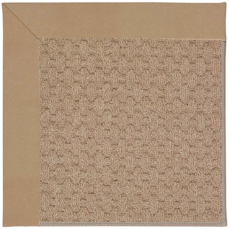 Creative Concepts-Grassy Mtn. Canvas Camel Indoor/Outdoor Bordere Rectangle Corner image
