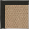 Creative Concepts-Raffia Canvas Black Machine Tufted Rug Runner image