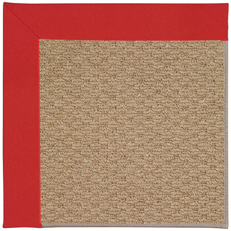 Creative Concepts-Raffia Canvas Jockey Red Machine Tufted Rug Runner image