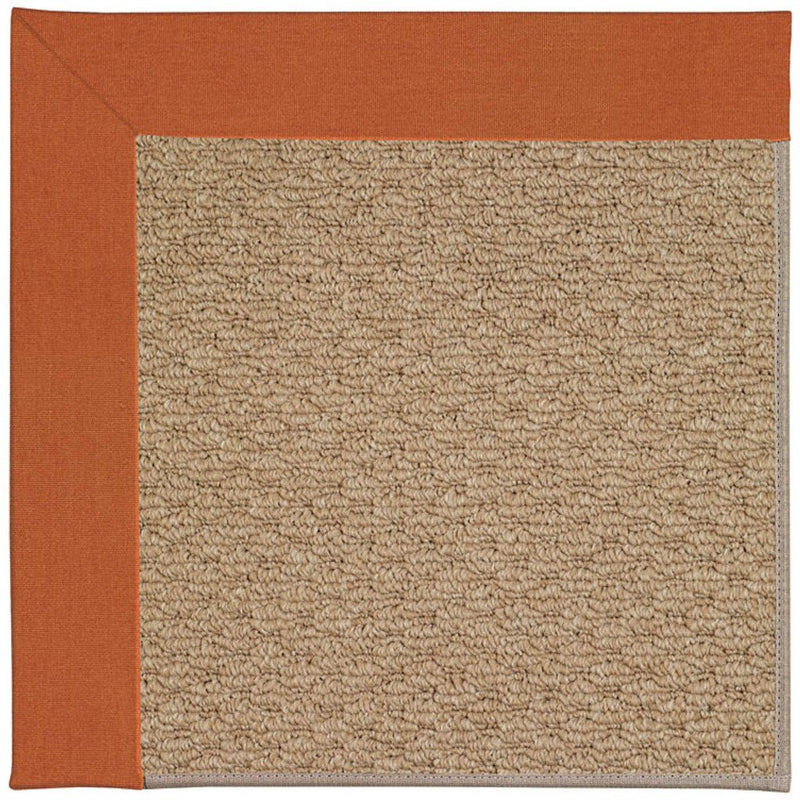 Creative Concepts-Raffia Canvas Rust Machine Tufted Rug Runner image
