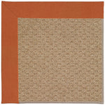 Creative Concepts-Raffia Canvas Rust Machine Tufted Rug Rectangle image