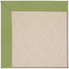 Creative Concepts-White Wicker Canvas Citron Machine Tufted Rug Rectangle image