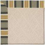 Creative Concepts-White Wicker Long Hill Ebony Machine Tufted Rug Rectangle image